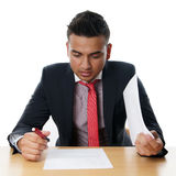 Young businessman with paperwork Stock Photo