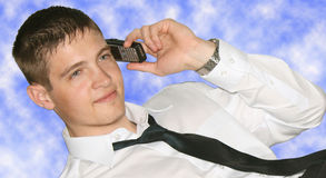 Young businessman on phone Royalty Free Stock Photo