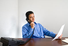 Young Businessman on Phone Call Royalty Free Stock Photo