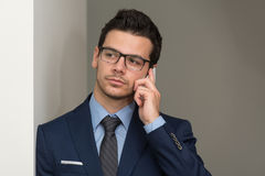 Young Businessman On The Phone Stock Photography