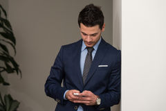 Young Businessman On The Phone Stock Photos