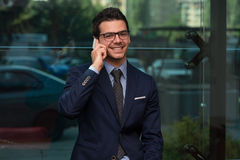 Young Businessman On The Phone Royalty Free Stock Photo