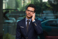 Young Businessman On The Phone Stock Image