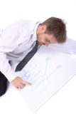 Young businessman and plan Stock Images