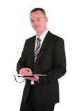 Young businessman with a planner Stock Image