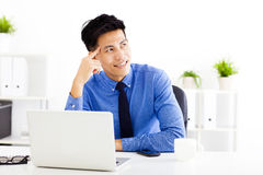 Young  businessman planning and thinking Stock Image