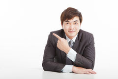 Young businessman pointing Royalty Free Stock Photo