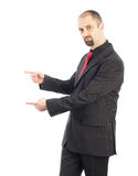 Young businessman pointing Royalty Free Stock Photography