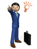 A young businessman points to the goal. Royalty Free Stock Photography
