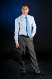 Young businessman with a portfolio Stock Image