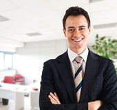 Young businessman portrait. Portrait of a young businessman in his office Stock Images