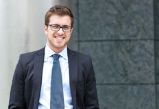 Young businessman portrait Stock Photos