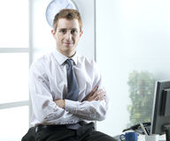Young businessman. Portrait of young businessman in his office Royalty Free Stock Photography