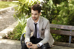 Young businessman portrait Royalty Free Stock Photo