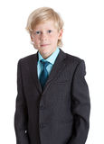 Young businessman portrait in suit and tie, isolated white background Stock Images