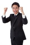 Young businessman posing guts. This is a picture of a young businessman posing guts Royalty Free Stock Image