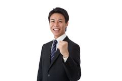 Young businessman posing guts Stock Photography