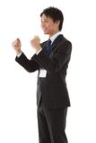 Young businessman posing guts. This is a picture of a young businessman posing guts Royalty Free Stock Images