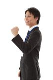 Young businessman posing guts. This is a picture of a young businessman posing guts Stock Photography