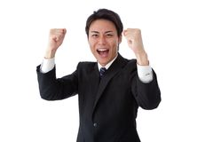 Young businessman posing guts. This is a picture of a young businessman posing guts Stock Images