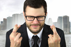 Young businessman praying Stock Photography