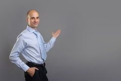 Young Businessman Presenting Royalty Free Stock Photo