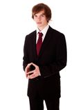 Young businessman presenting project Stock Images