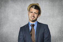 Young businessman ready to party Royalty Free Stock Photography