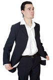 Young businessman in the ruin royalty free stock photo