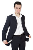 Young businessman in the ruin Stock Photos