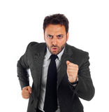 Young businessman running royalty free stock photography