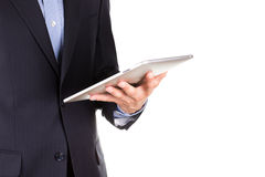 Young businessman's hands with tablet pc Royalty Free Stock Photography