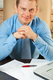 Young businessman`s portrait. This is a portrait of a young businessman stock photography