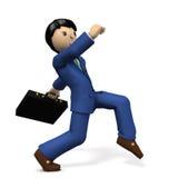 A young businessman secretly walking like a spy. Royalty Free Stock Photo