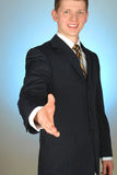 Young businessman set a deal Stock Image