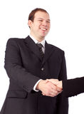 Young businessman shaking hands. Royalty Free Stock Photos