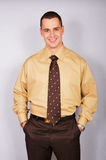 Young businessman in shirt royalty free stock image