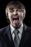 Young businessman shouting Stock Photo