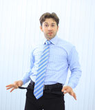 Young businessman showing empty Stock Photo