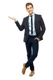 Young businessman showing something Royalty Free Stock Photo