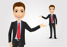 Young businessman showing something Stock Image