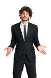 Young Businessman Shrugging Stock Photography