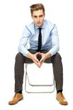 Young businessman sitting Royalty Free Stock Image