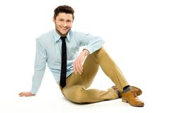 Young businessman sitting Royalty Free Stock Photography