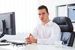 Young businessman royalty free stock image
