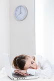 Young businessman sleeping Royalty Free Stock Image