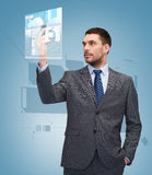Young businessman with smartphone Stock Photo