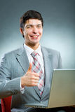 Young businessman smile Stock Photo