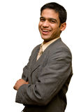 Young Businessman smiling Royalty Free Stock Photography