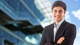 Young businessman smiling Royalty Free Stock Images